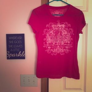 Pink T-shirt from Express with light pink detail